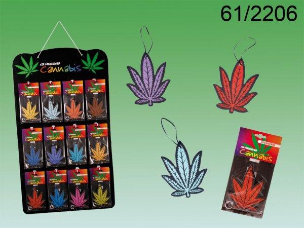 Lufterfrischer,<br> Cannabis, ca. 10 x<br>8 cm,