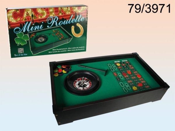 Műanyag asztal<br> rulett játék, kb<br>51 x 31 cm