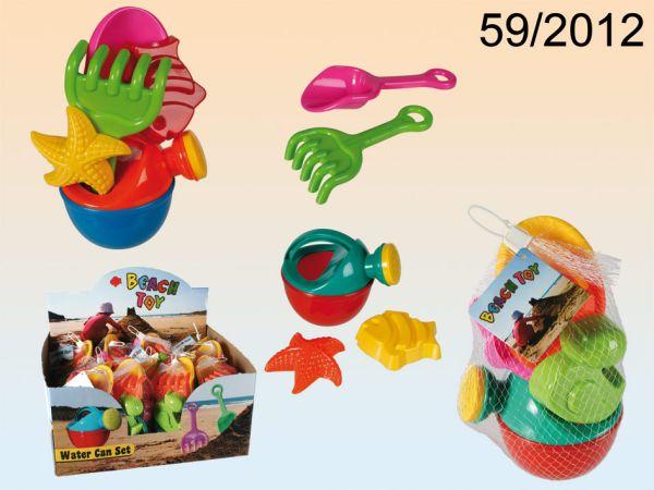 -Kunststoff<br> Sandspielzeug mit<br>Gießkanne