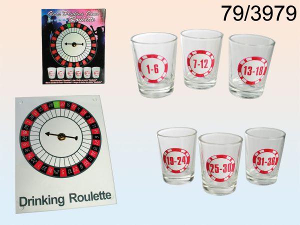 Alkoholfogyasztás<br> játék, ivás rulett<br>6 pohár
