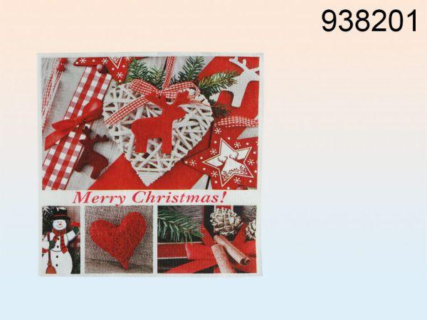 Papier-Servietten,<br> Merry Christmas,<br>ca. 33 x 33 cm