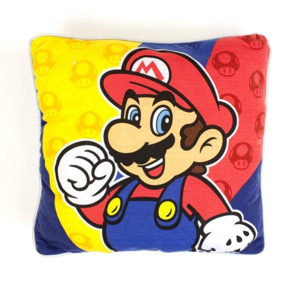 Printed cushion<br> representing<br>Nintendo Super Mario