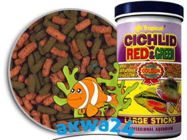 Cichlid Aquarium<br> nourishment Red<br>&amp; Green Large