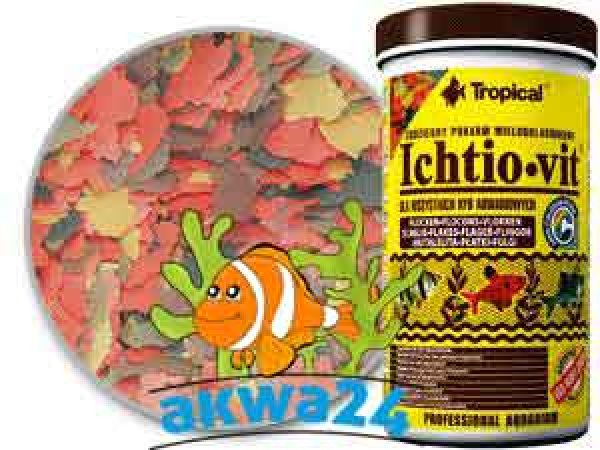 Aquarium Tropical food ICHTIO-VIT 600ml/110g