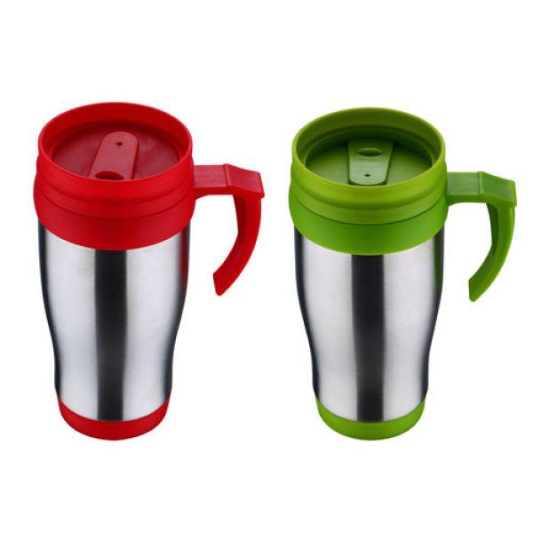 Travel Mugs 400ml<br>stainless steel