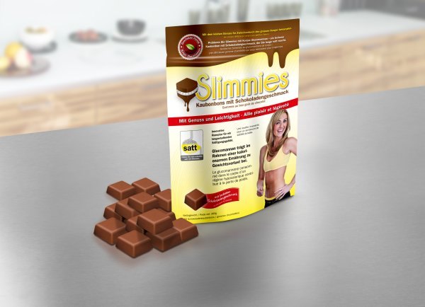 Slimmies chocolate<br>chewy candies 60 pcs