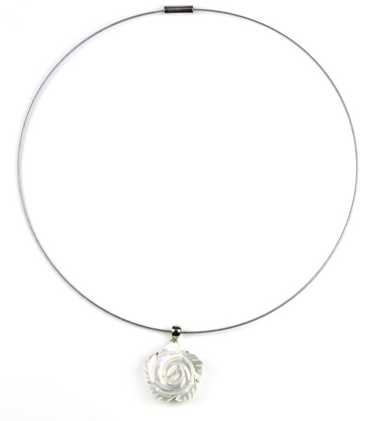 Mother of Pearl<br> Necklace Weiße<br>Blume Shell