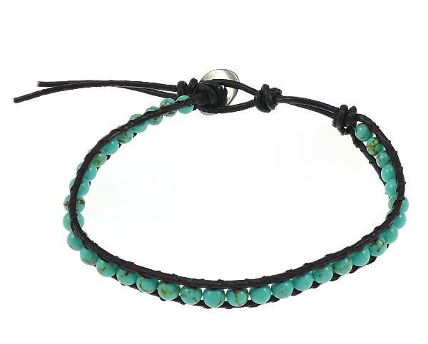 Gemstone Bracelet<br>Wrap Turqouise Green
