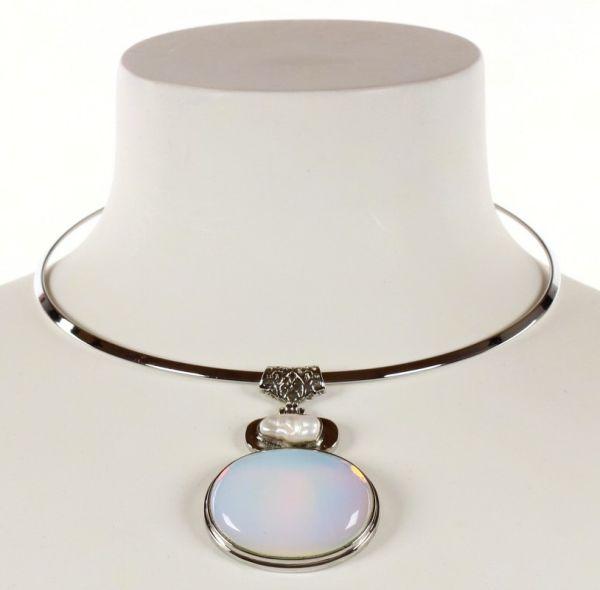 Collana di perle<br> d&#39;acqua dolce<br>Biwa Mare Opal