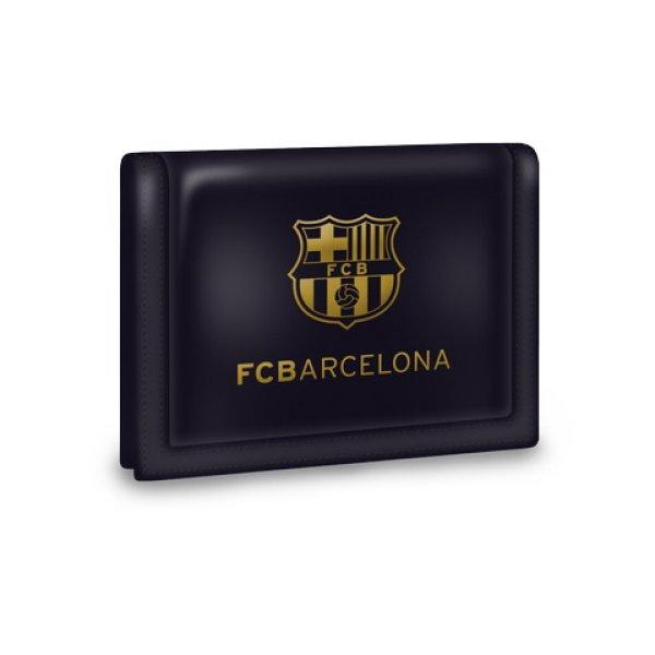Barcelona rzep<br> portfel czarny ze<br>złotym wzorem