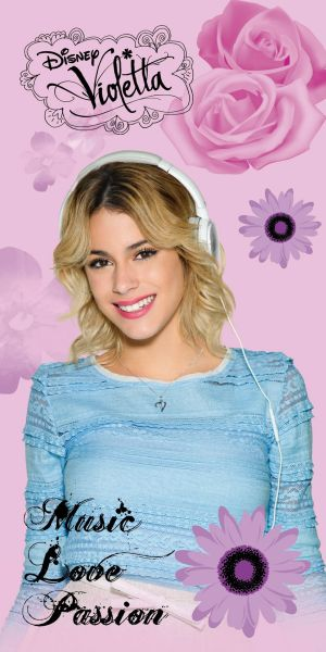 serviette Violetta<br> 140x70 plage 100%<br>coton