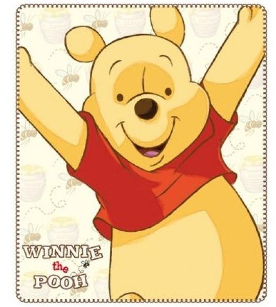 Decke PLAID FLEECE<br> 120x140 Disney<br>Winnie the Pooh