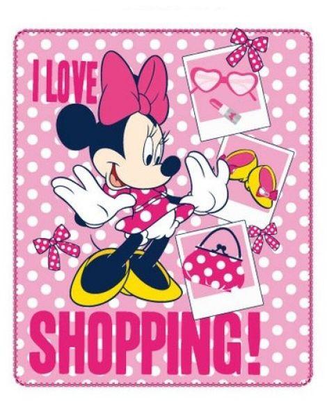 Decke -karierte<br> Maus 120x140 POLAR<br>Minnie Disney