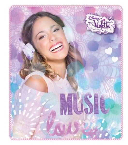 Decke FLEECE<br> 120x140 Violetta<br>MUSIC Disney