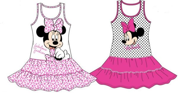 SUMMER DRESS MOUSE<br> Minnie Disney 3-8<br>YEARS 2 COLOU