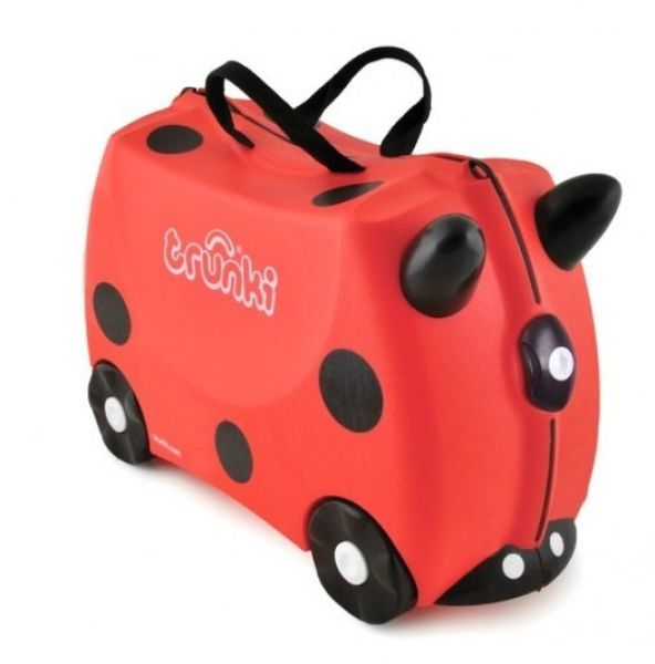 TRU-L092 riding a<br>suitcase for a child