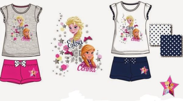 set T-Shirt Shorts<br>Frozen frozen 3-8LAT