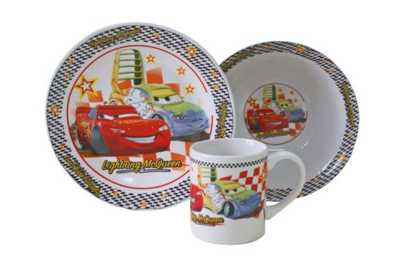 China breakfast<br>set 3 items Cars 03D