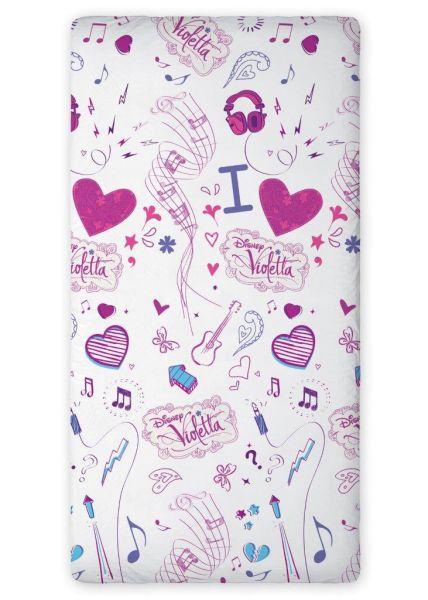 drap de lit,<br> Disney Violetta 01<br>F 90x200
