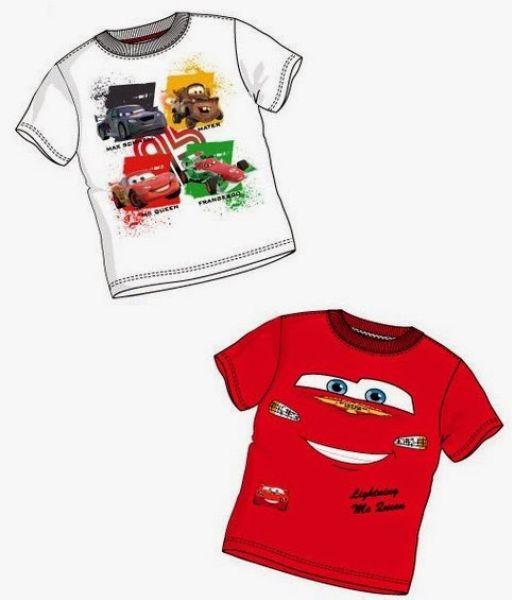 shirt t-shirt<br> Disney Cars 2<br>colors Summer