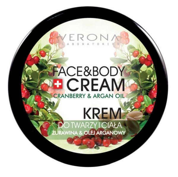 Cream for face and<br> body cranberry<br>&amp; argan oil