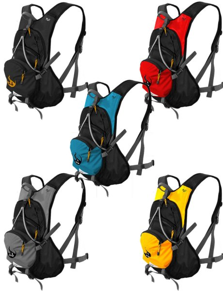 Sports backpack<br> with space for<br>bicycle helmet