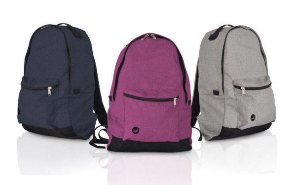 Stadt-Rucksack mit<br> einer Tasche für<br>einen Laptop -