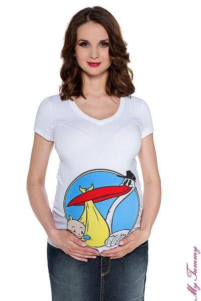 T-shirt Terhesség Stork