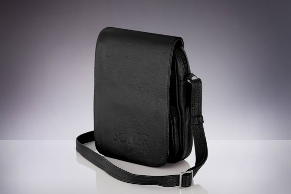 Leather shoulder<br> bag for men Solier<br>phone Alsen