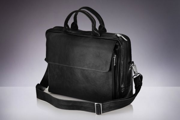 Leather briefcase<br> laptop bag for men<br>Solier Rothen