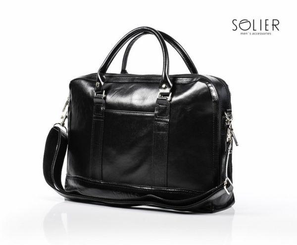 Skórzana torba<br> męska aktówka -<br>laptop Solier SL02
