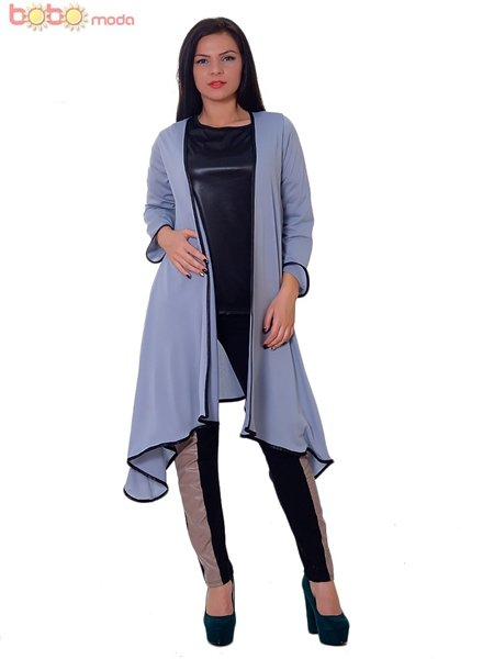 Lady Long Cardigan<br>Bobo Grau