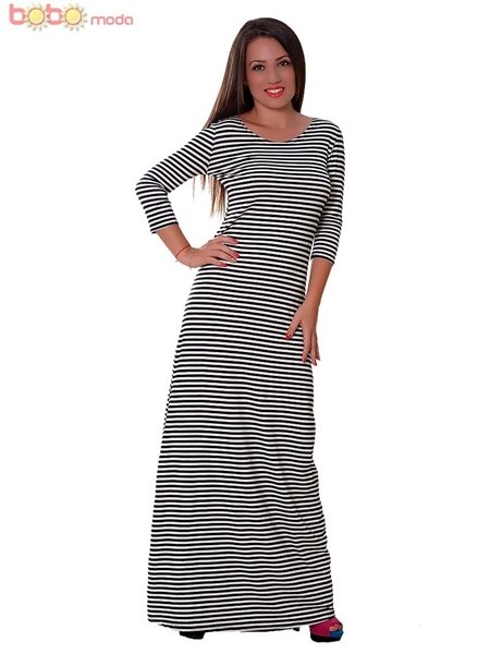 Long Dress Bobo Stripes