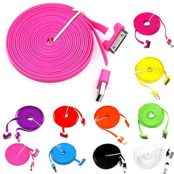 Noodle USB<br> charging cable<br> data cable iphone ...