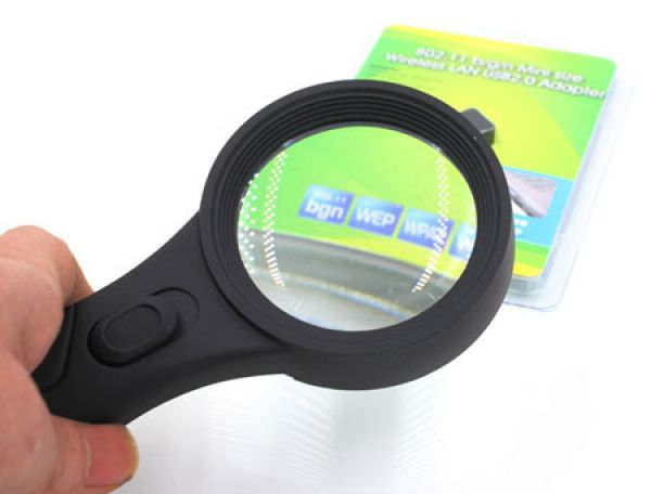 Universal<br> magnifying glass<br> with 5 times ...