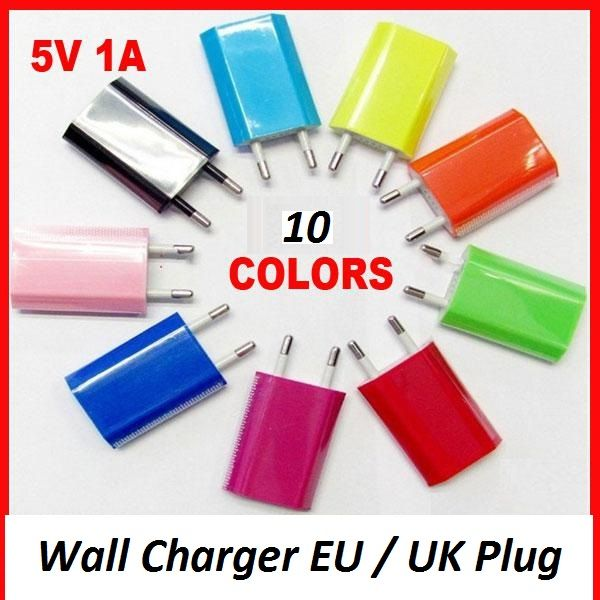USB charger EU /<br> UK Plug Wall<br>Charger Smartphone