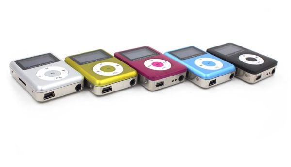 Mp3 Player<br> aluminum with<br>display and speakers
