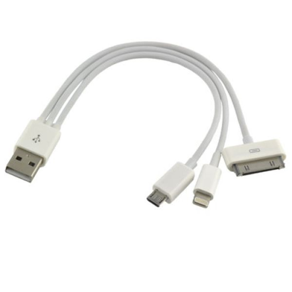 3in1 cable USB<br> Data Charger Cable<br>Cord All Phones