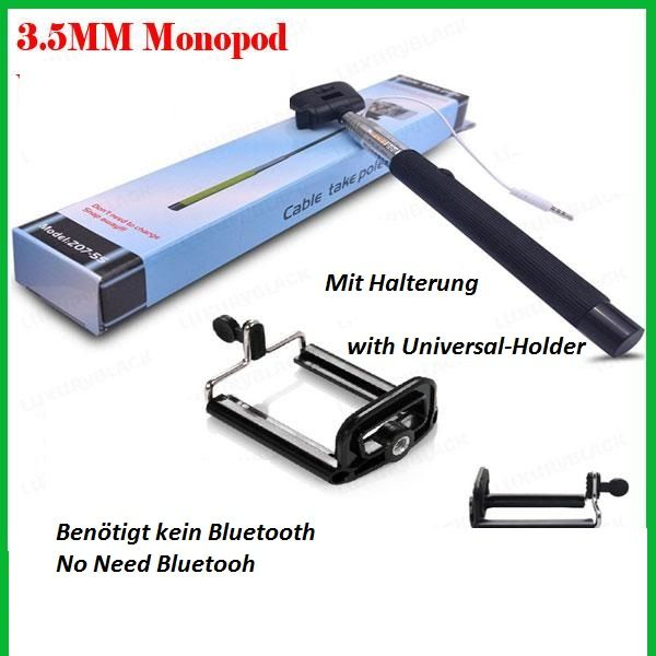 Selfie Stick<br> Monopod 3.5mm<br>Complete Stick - SET