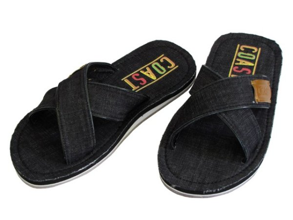 Plage chaussures<br> tongs chaussures<br>hommes noirs