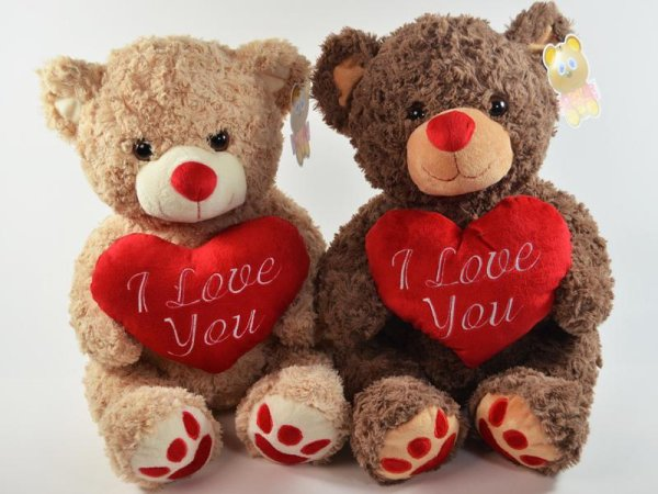 Cuddly Bear with I<br>Love you Heart 40cm