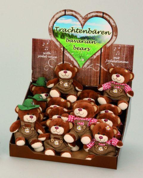 Mini Bayernbären<br> mit Sound in<br>Display 12cm Plüsch
