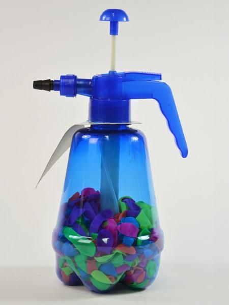 Pump bottle with<br> 300 water bombs<br>30x18,5x13cm