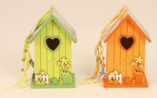 Vogelhaus aus Holz<br>21cm Garten Deko