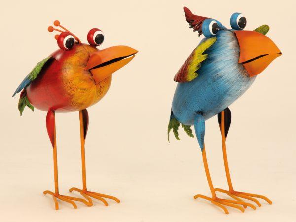 Metal bird 26cm<br> thick body Garden<br>Decoration