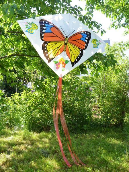 Lenkdrache<br> butterfly motif PE<br>film 67x8,5cm