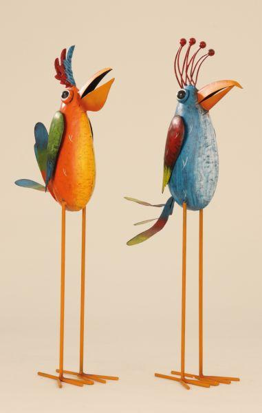Metal bird with<br> long legs 57cm<br>Garden Decoration