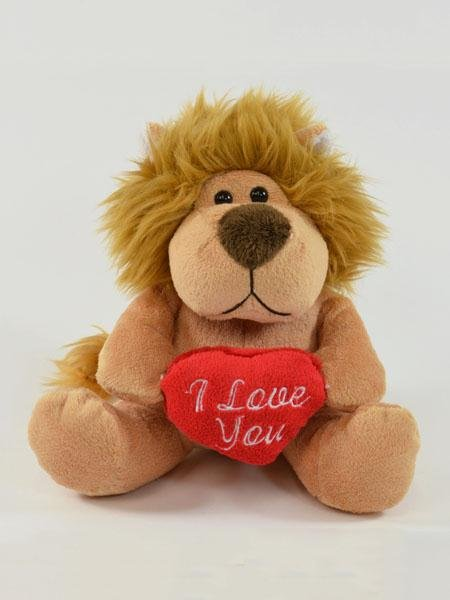 Cuddly Lion with I<br>Love you Heart 16cm