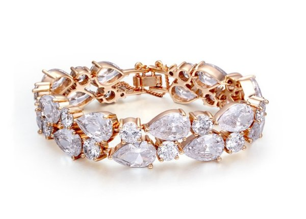 bathed in pink<br> gold bracelet 18K<br>cheating