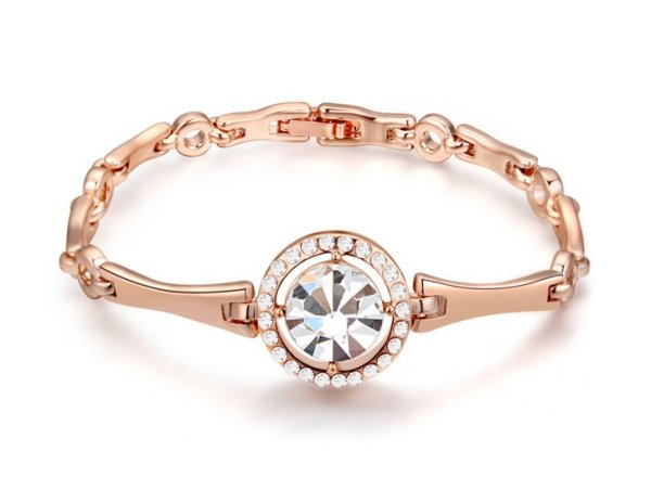 rose gold plated<br> bracelet 18 carats<br>mont